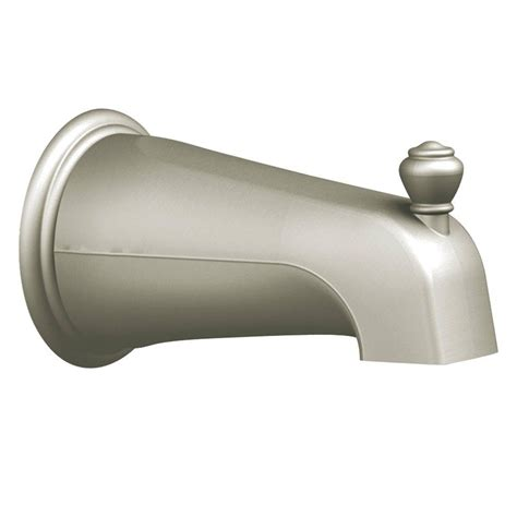 moen bathtub spout moen diverter spout in brushed nickel 3807bn the home depot
