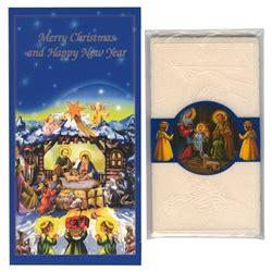 polish art center christmas card   oplatek wafers