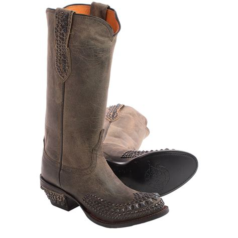 studded boots for lucchese studded cowboy boots for