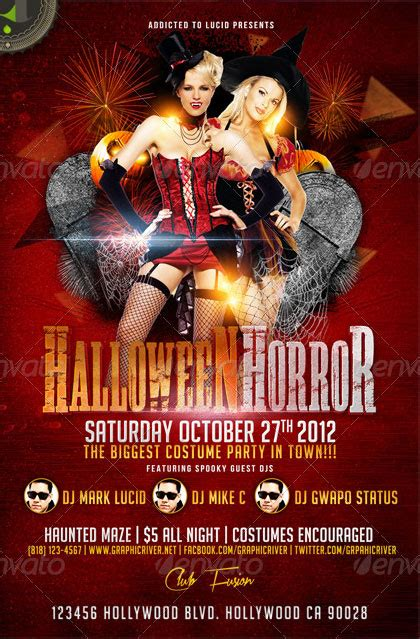 costume flyer templates horror costume flyer psd by addictedtolucid on deviantart