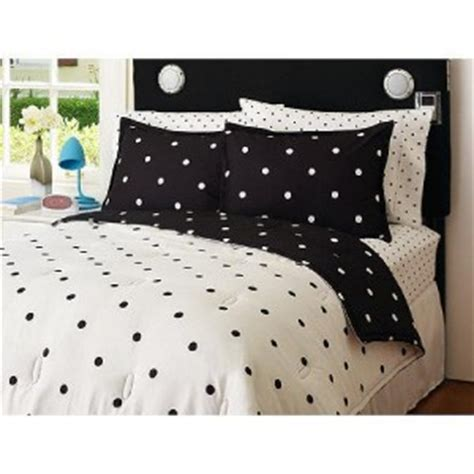 reversible black white polka dot twin comforter set ebay