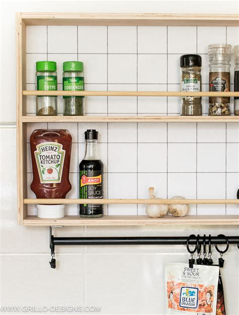 Kitchen Rack Design How To Build A Hanging Spice Rack And A Ryobi Giveaway Grillo Designs
