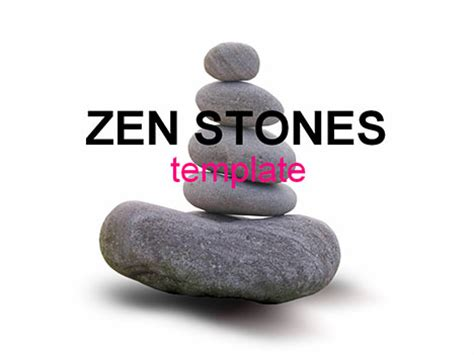 zen stones template