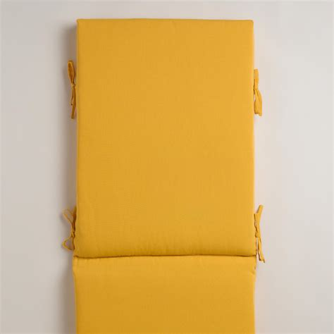 yellow chaise lounge cushions yellow outdoor chaise lounge cushion world market