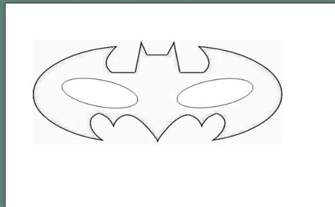 batman eye mask coloring pages