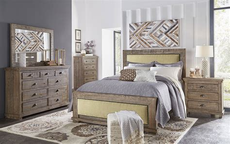 willow upholstered bedroom set weathered grey progressive furniture furniturepick