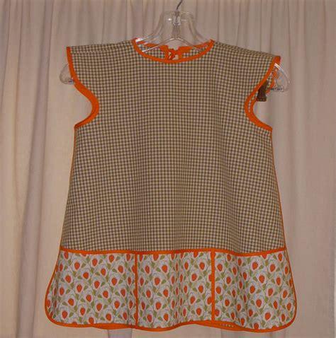 free pattern smock apron child s cobbler smock apron handmade from 1952 pattern
