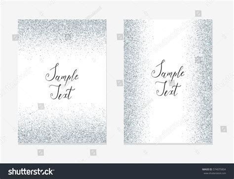 Silver Glitter Background Silver Sparkle Frame Stock Vector 574075804 Shutterstock Sparkle Website Templates