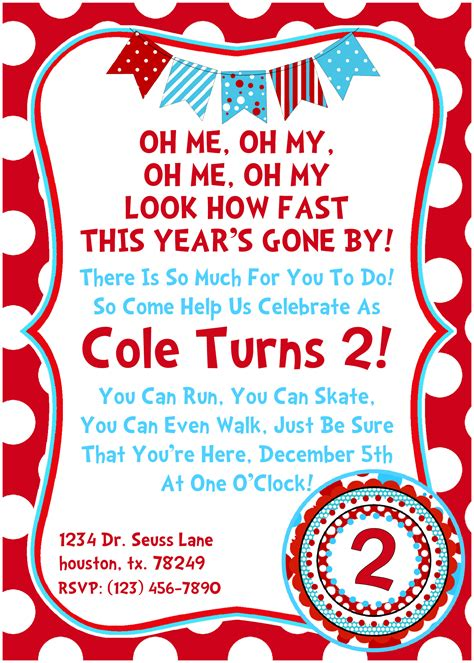 dr seuss birthday invitations templates 7 best images of printable seuss invitations