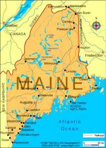 Main State Map by Atlas Maine