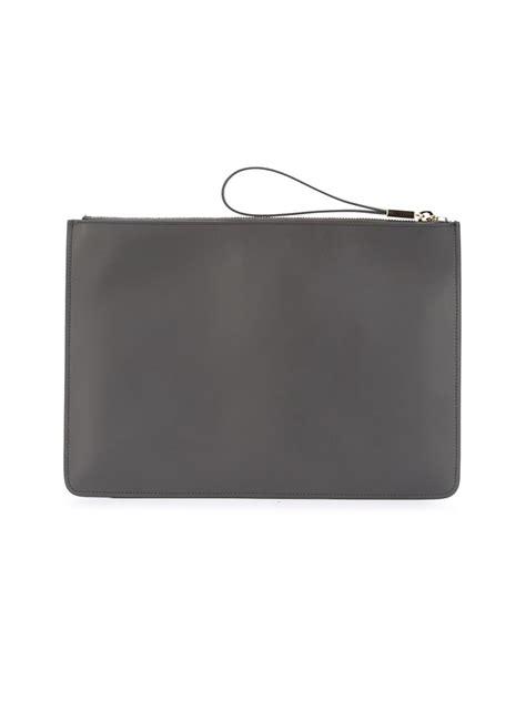 Tods Pochette Clutch Handbag by Tod S Studded Clutch Bag In Gray Lyst