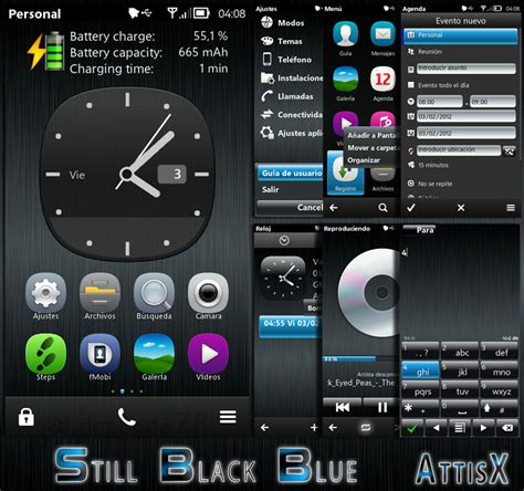 themes nokia c6 nokia theme free download still black blue def by attisx
