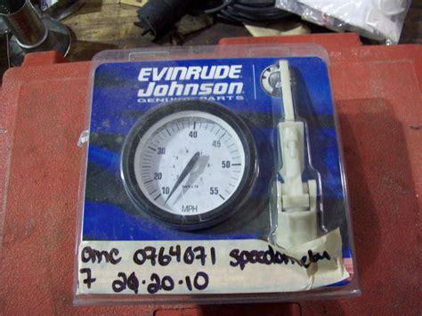 johnson evinrude omc  mph speedometer kit  johnson evinrude omc  mph speedometer