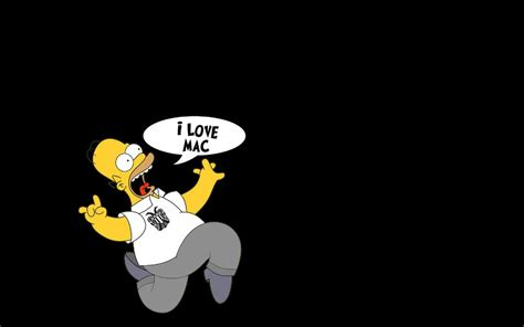 wallpapers apple homer simpson simpsons apple wallpapers wallpaper cave