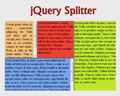 bootstrap layout splitter splitter jquery plugins