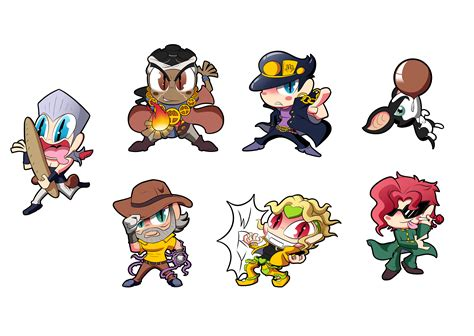 jojo part 3 jojo part 3 chibis sheet 1 by blargen69 on newgrounds