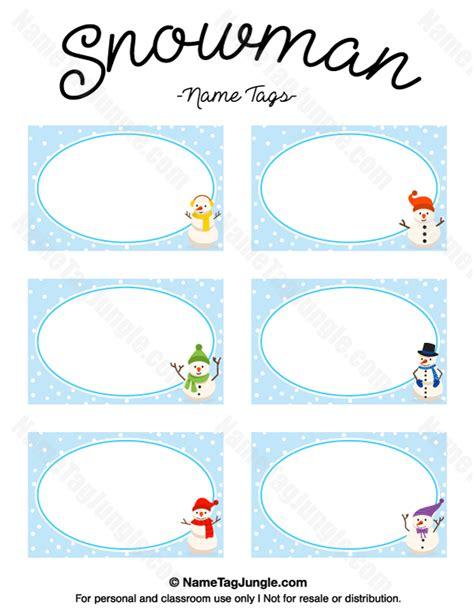 Label Snowman snowman label template images