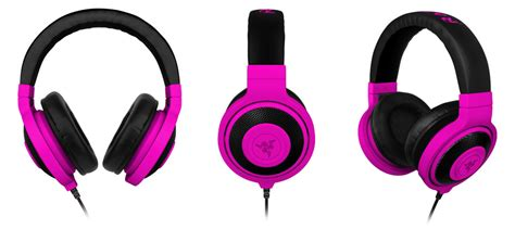 Razer Kraken Neon Purple razer kraken neon analog gaming purple headphones zzzrz