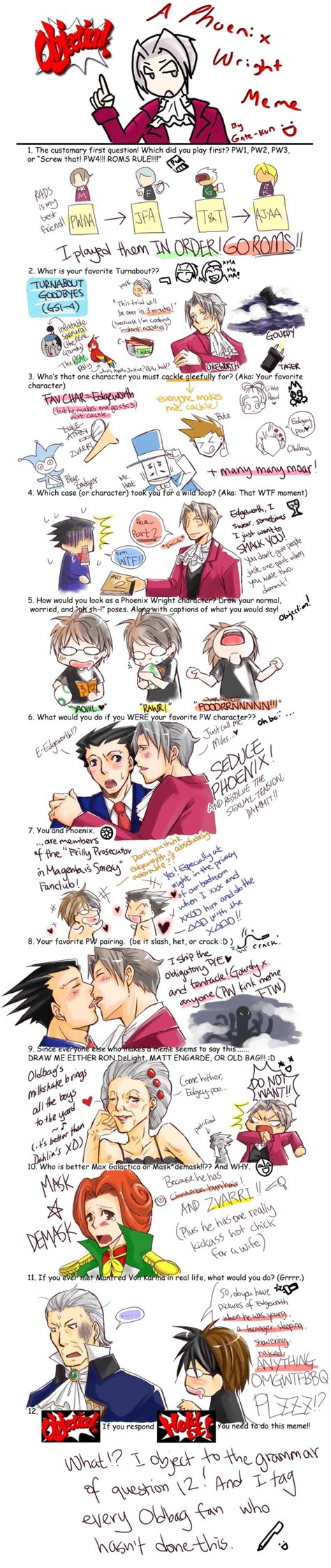 Phoenix Wright Kink Meme - phoenix wright meme 2 by cannedebonbon on deviantart