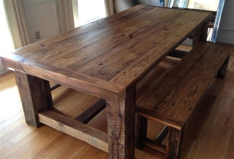 Best Wood For Furniture by Wood Dining Room Table With Bench The Best Wood Furniture