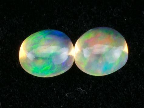 Orange Opal 5 56ct 3 42ct mexican opal cabochon pair mo327 2