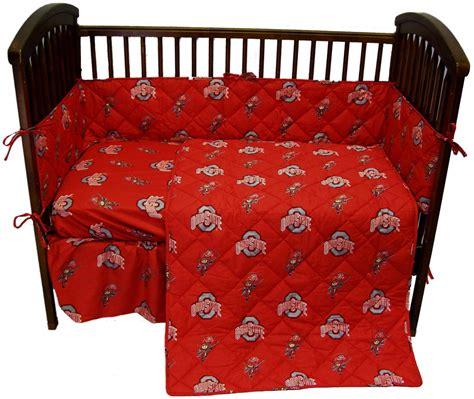 Crib To College Bed Ohio State Buckeyes Crib Bedding Set Interiordecorating