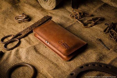 Handmade Leather Iphone Wallet - crazyhorsecraft handmade leather wallet for iphone 7