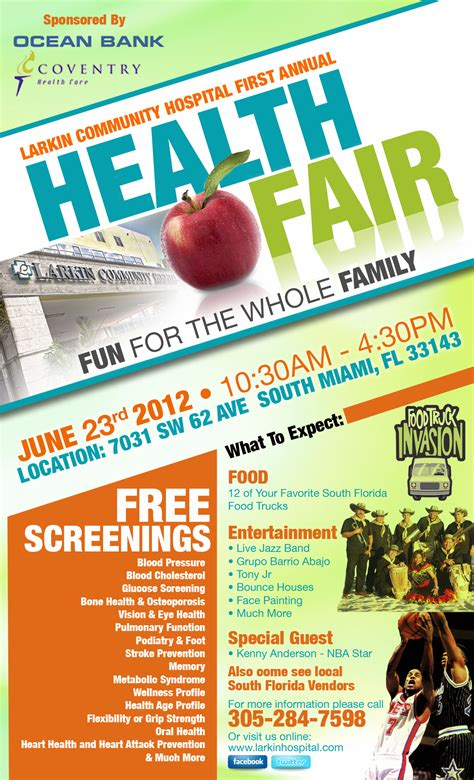 When You Have An Upcoming Health Fair Or Expo That Need On Health Fair Flyer Templates Health Fair Flyer Template Free
