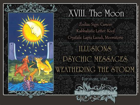 black moon astrology cards books moon tarot card meanings