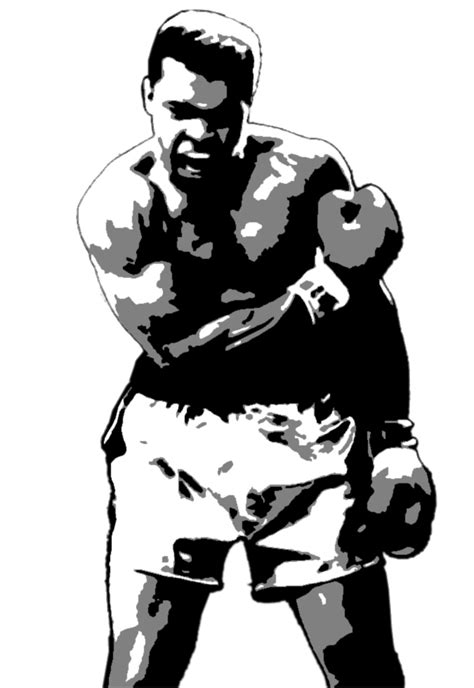muhammad ali custom stencil by 22 3partfile jpg 675 215 981 boxing pinterest box