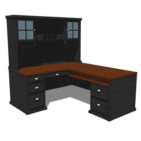 Office Desk Configurations Black Forest Home Office 3d Model Formfonts 3d Models Textures