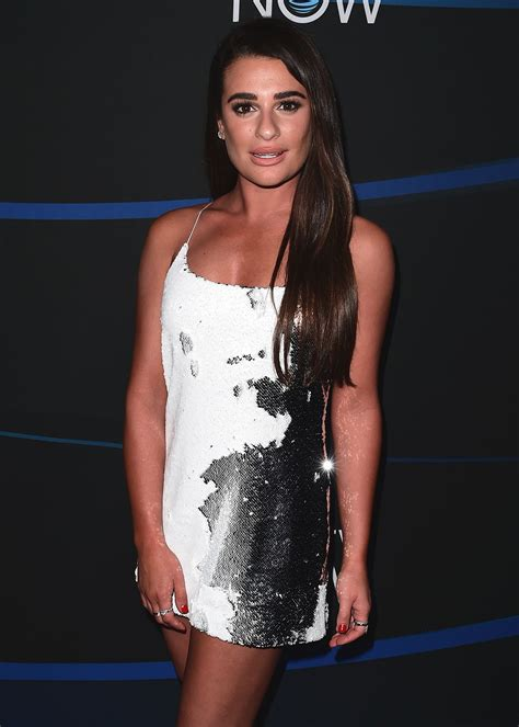 lea michele lea michele at 2017 directv now super saturday night