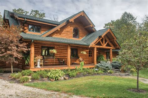 take a look inside this palatial amish built log cabin