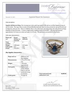 Jewelry Appraisal Letter Sle And Jewelry Appraisals Farrow Company Jewelry Appraisers