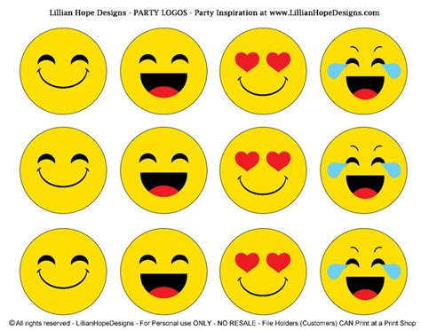 free large printable emojis http lillianhopedesigns com emoji party free emoji