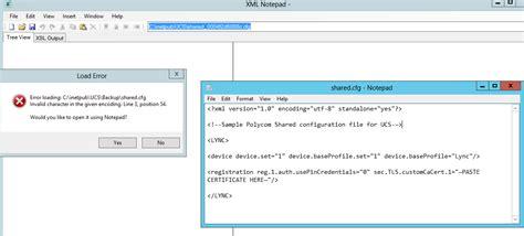 file layout definition error 118 20 can t modify config file polycom community