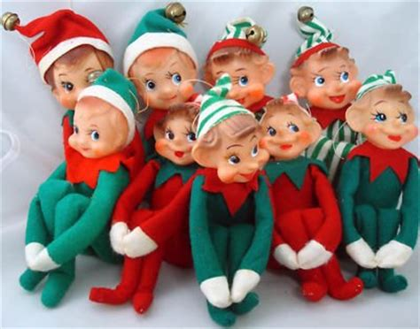 vintage felt christmas elves elf on a shelf carol