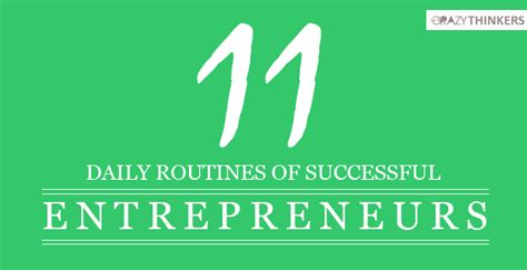 10 Daily Habits Of Most Successful Entrepreneurs Audacious Stories Quotes Motivation 11 Daily Routines Habits Of Successful Entrepreneurs Most Effective