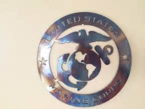 marine home decor us marine corps usmc metal wall art decor ebay