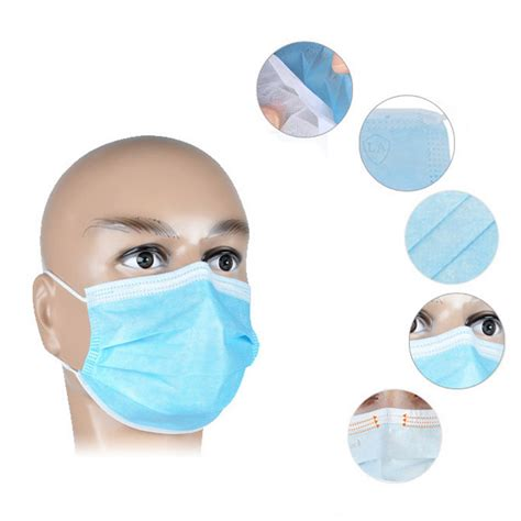 Masker Earloop 50 x disposable dustproof surgical