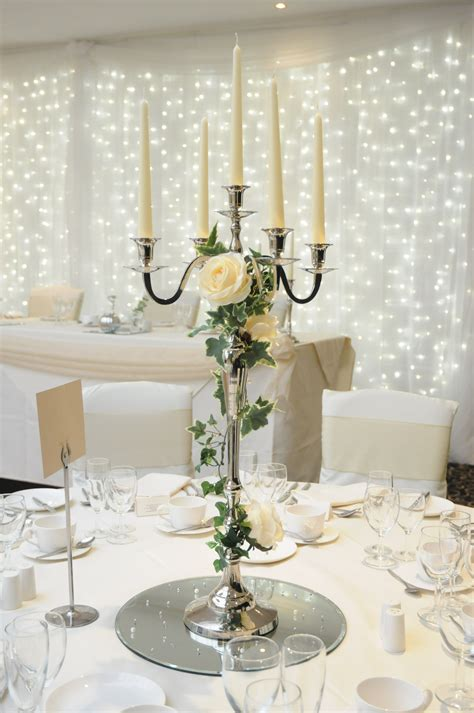 candelabra wedding centerpieces with flowers centrepiece pinteres