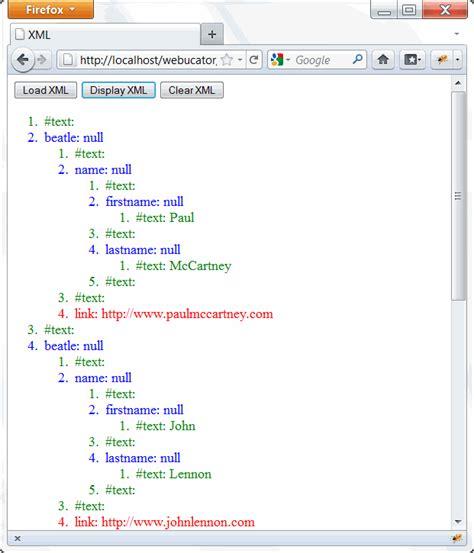 xml tutorial list xml tutorial webucator