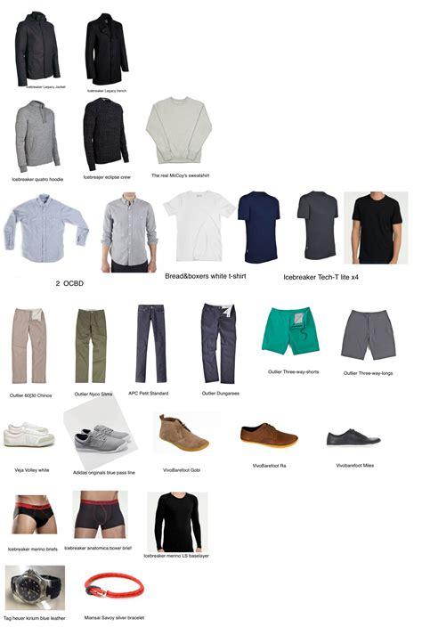 Building A Mens Wardrobe by S Minimalist Wordrobe Wardrobes S Fashion And