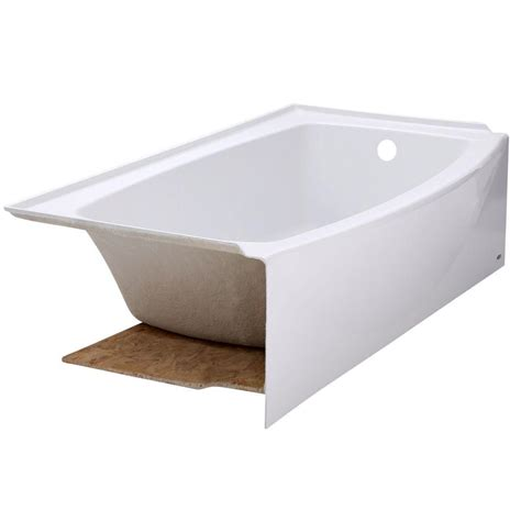 white bathtub american standard ovation 5 ft right drain bathtub in