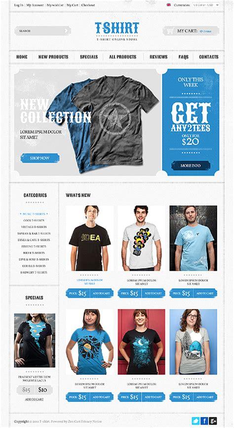 Template 36752 T Shirt Store Zencart Website Template T Shirt Website Template Free