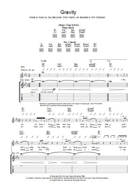 coldplay gravity lyrics coldplay gravity sheet music at stanton s sheet music