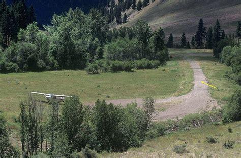 Cabin Creek Idaho airphoto aerial photograph of cabin creek airstrip