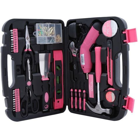 Pink Pc Kit by 135 Pc Pink Tool Set Wrench Home