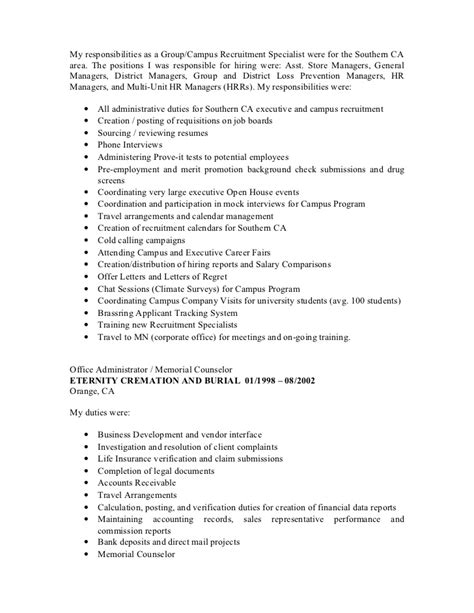 resume objective exles loss prevention loss prevention duties resume resume ideas