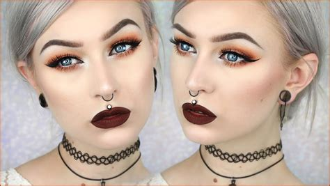 makeup for women over 90 90 s grunge glam autumn leaves makeup evelina forsell